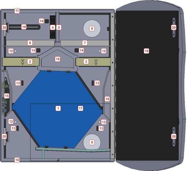 Kleines Dezentrales Lüftungsgerät mit Wärmerückgewinnung - Bayernlüfter innen